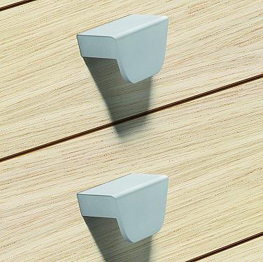 Pull Handles, Stainless Steel Coloured, Aluminium Edge