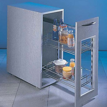 Stainless Steel Pull Out Storage Unit 300mm Handles And More