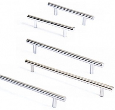 Brushed Nickel, Chrome - Cross Bar Handles