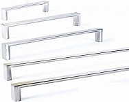 Laundry Wardrobe Lucca Chrome Flat Handle