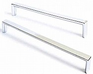 Visso Wardrobe Cupboard Chrome Flat Handle