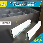 alto-86 drawer runners kitchen vanity 500mm soft close CABINET cupboard