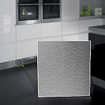 Brushed aluminium laminate kitchen kickboard plinth 2.4 vanity laundry pack