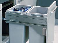 Kitchen pull out dual bin 2x 38L bins soft close runners cabinet cupboard slide
