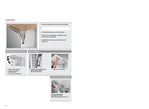 Hafele Lift Up Flap Kitchen Cabinet Cupboard Door Laundry