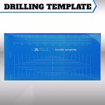 Drilling jig template