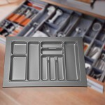 Wide Cutlery Tray for kitchen drawers under benchtop knife fork tray