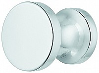 Brass Door Knob, Polished Chrome or Matt Nickel Plated
