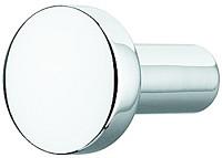 Zinc Alloy Door Knob, White or Black-Matt, Nickel or Chrome Finish