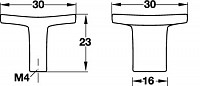 Zinc-Alloy Square Door Knob
