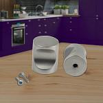 Round knob cabinet kitchen cupboard door satin chrome drawer vanity