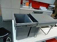 Kitchen door mount bin 1x 11L bins heavy duty cabinet cupboard under benchtop