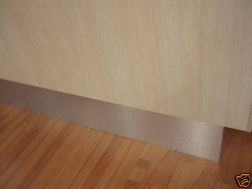 Brushed Aluminium Kickboard Laminate Height 150mm