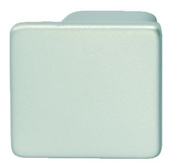 Zinc Alloy Square Door Knob, Silver Coloured, Matt